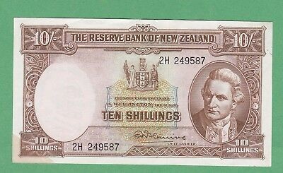 New Zealand 10 Shillings  Note P-158c  VERY FINE+