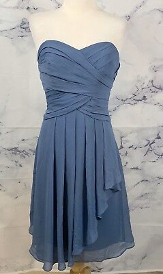 5b9bb3500c1 Davids Bridal Short Crinkle Chiffon Sweetheart Dress Front Cascade Women s 2
