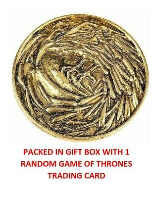Game Of Thrones Gold Crow Night's Watch Shield Collectible Badge Pin In Gift Box