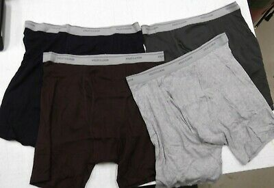 Lot of 4 Pair New FTL Boxer Briefs 2XL Fly Front Cotton Blend