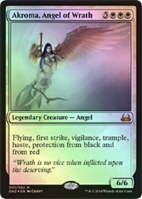 """Condition Akroma MTG TIME SPIRAL/""""TIMESHIFTED/"""" Angel of Wrath Excellent"""