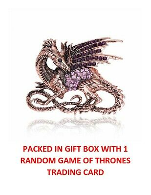 Game Of Thrones Targaryen Drogon Dragon Collectible Brooch Pin In Gift Box