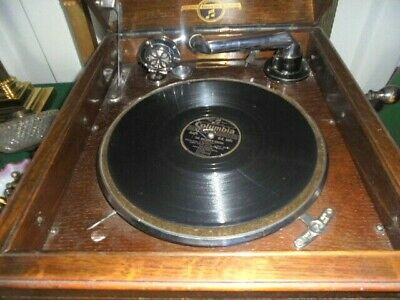 gramophone columbia table top superb condition