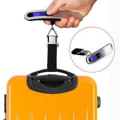 Portable Travel 110lb /50 kg LCD Digital Hanging Luggage Scale Electronic Weight
