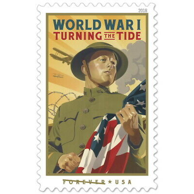 New USPS Full Sheet of Forever Stamps : World War I - Turning The Tide 20 Stamps