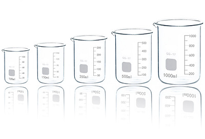 DISCOUNTED Borosilicate Glass Beakers  Beaker Boro 3.3 Low Form Factory Second