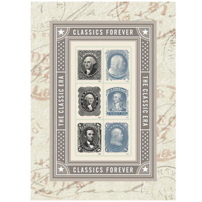 New USPS Full Sheet of Forever Stamps : Classics Forever - 6 stamps