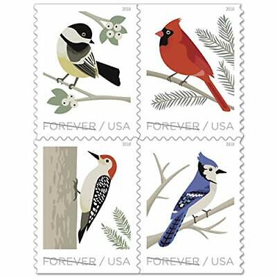USPS Forever Postage Stamps 'Birds in Winter - 2018' Booklet of 20