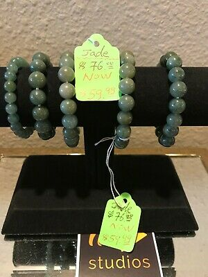 Chinese Exquisite Hand-Carved Beautiful Green Jade Bracelets for MOM!