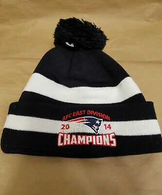 sneakers for cheap a4cae 96dbf New England Patriots New era 2014 AFC east champions Pom Knit NWT hat