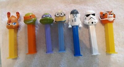 MIXED LOT PEZ, star wars,tmnt, minions, pokemon
