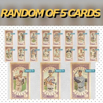 2019 GYPSY QUEEN BASE FORTUNE TELLER RANDOM SET OF 5 CARDS Topps Bunt Digital