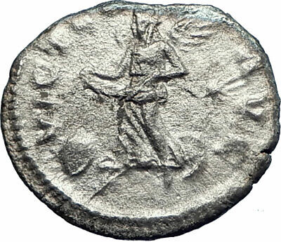 ELAGABALUS 220AD Rome Authentic Ancient Silver Roman Coin Victory Nike i77324