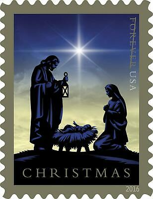 New USPS Full Booklet of Forever Stamps : Nativity 2016 Christmas (20 Stamps)