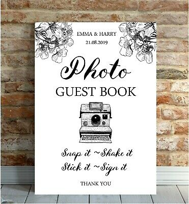 A3//A4//A5 Personalised Vintage Wedding Guest Book Sign