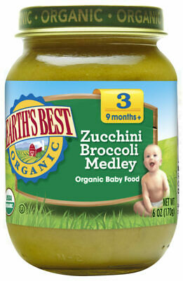 Earth's Best Organic  Baby Food Zucchini Broccoli Medley- 6 Oz - Pack Of 12