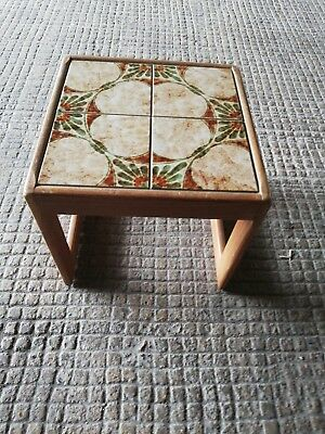 Retro Mid Century  Tiled Danish Inspired small Coffee Table (Vintage 60s 70s)