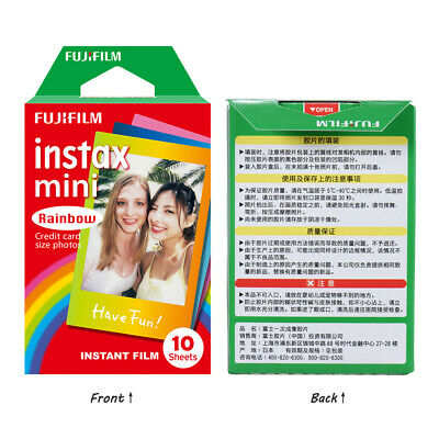 100 Sheets Fujifilm Instax Mini Instant Film Colorful For Mini 7S/8/25/90/9 Cam