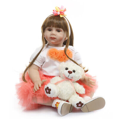 24inch Real Looking Toddler Dolls Realistic Handmade Reborn Baby Girl