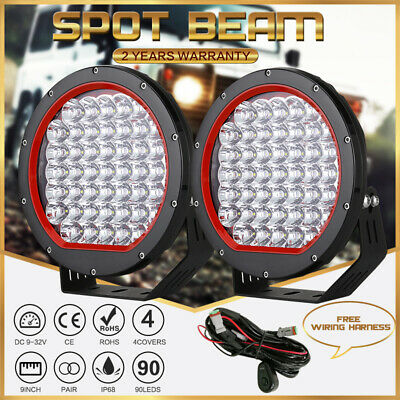 OSRAM 9inch Pair LED Driving Lights Round Spotlight 39800LM Jeep SUV 4X4 Offroad