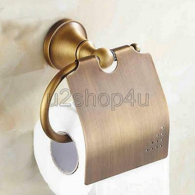 Antique Brass Bathroom Toilet Paper Holder Wall Mount Roll Paper Holder Uba131