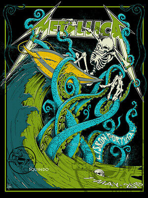 METALLICA Lisbon, Portugal 5/1/19 -AP White Edition of 70 sold by SQUINDO
