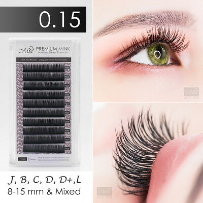 Mia 0.15 Faux Mink Synthetic Mink Individual Eyelash Extension Semi Permanent