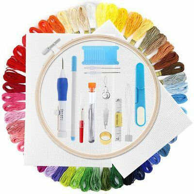 Magic Diy Embroidery Pen Set Knitting Sewing Tool Kit Punch Needle Stitching
