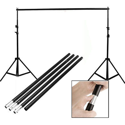 2.8M/9.2FT Adjustable Background Crossbar Support Stand Photography Stable