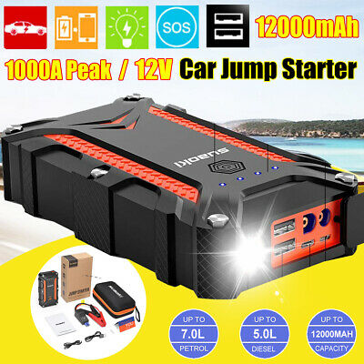 SUAOKI 1000A Peak Portable Car Jump Starter Auto Battery Booster IP68 Charger AU