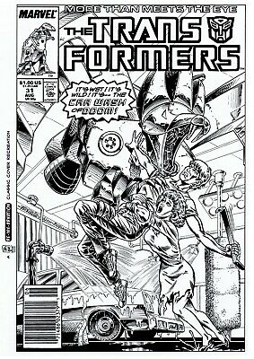 £10 OFF! TRANSFORMERS G1 #31 COVER RE-CREATION by BASKERVILLE after Budiansky!