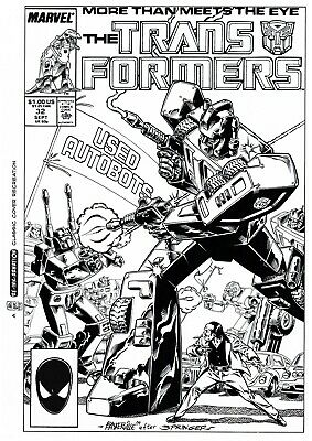 £10 OFF! TRANSFORMERS G1 #32 COVER RE-CREATION by BASKERVILLE after Springer!