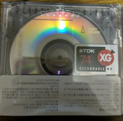 TDK MD-XG 74 (five) MD RECORDABLE BLANK MINIDISC - SEALED