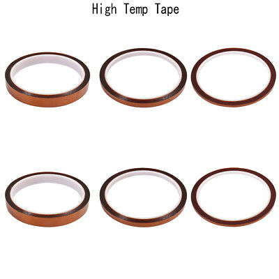 6 Rolls High Temp Tape, Heat Resistant Tape with Silicone Adhesive US