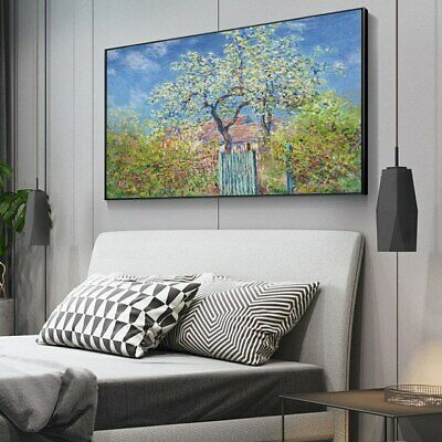 The Tree by Claude Monet Canvas Reproduction Painting Print Wall Art (UNFRAMED)