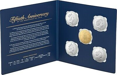 Free Post- 2019 Australia - Five Coin Uncirculated Set 50Th Anniversary 50 Cents