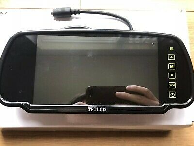 New Truck Van FULL Reverse Camera Kit With LCD Mirror Screen And Multiple Input