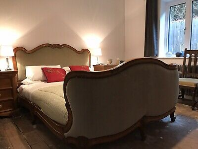 Stunning French Upholstered King Size (5ft) Bed.