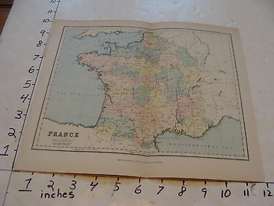 vintage map FRANCE double sided W. & R. CHAMBERS
