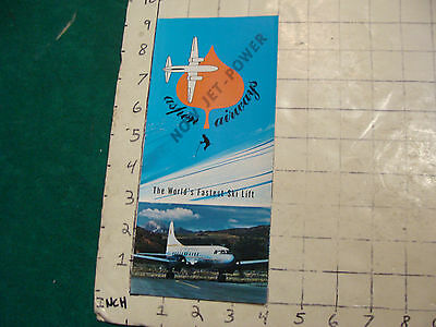 Vintage High Grade brochure: ASPEN AIRWAYS now jet-power Fatest Ski Lift 1973