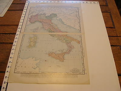 """Vintage 22 x 14""""  MAP 1895--ITALY"""