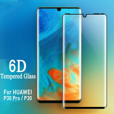 Fits For Huawei P30 Pro Lite 6D Tempered Glass Screen Protector Full Glass Cover