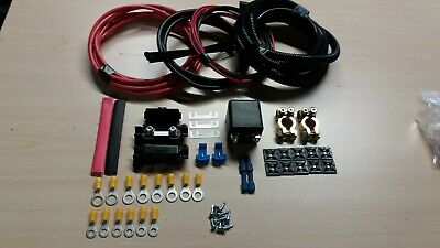 2Mtr 100 Amp Split Charge Relay Kit -Auto Charge Leisure Battery VW T2 T3 T4 Etc