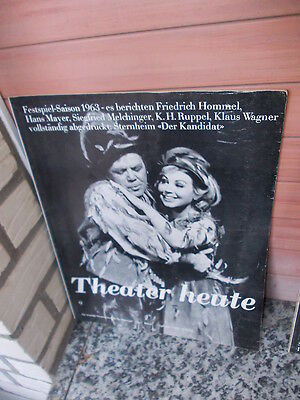 Theater heute, Heft September 1963