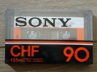 SONY CHF 90 Cassette Tape Unused New SEALED - Made In France