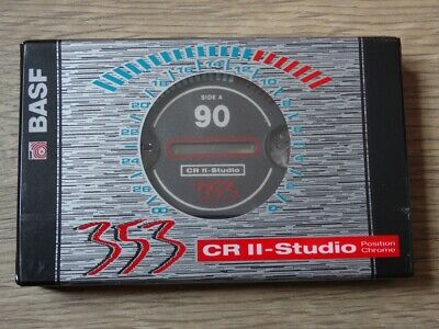 BASF 353 CR II Studio 90 Cassette Tape Unused New SEALED