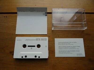 Sony Metal Master 90 Used Cassette Tape Type Iv Metal