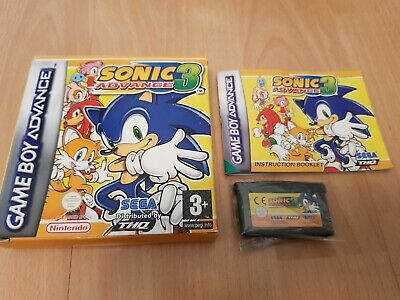 SONIC ADVANCE 3 - Nintendo GameBoy Advance GBA - Complete - PAL - FAST  DISPATCH!