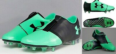 2885b40648b9 NEW Under Armour mens UA Spotlight Firm Ground Soccer Cleats green-blk sz  10.5
