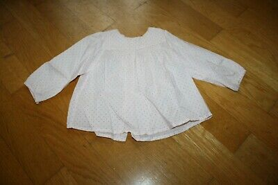 Girls Bonpoint cotton long sleeved shirt - Age 12 months